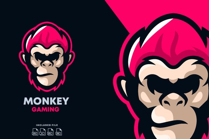 Thumbnail for Monkey E-Sport Logo Design Template