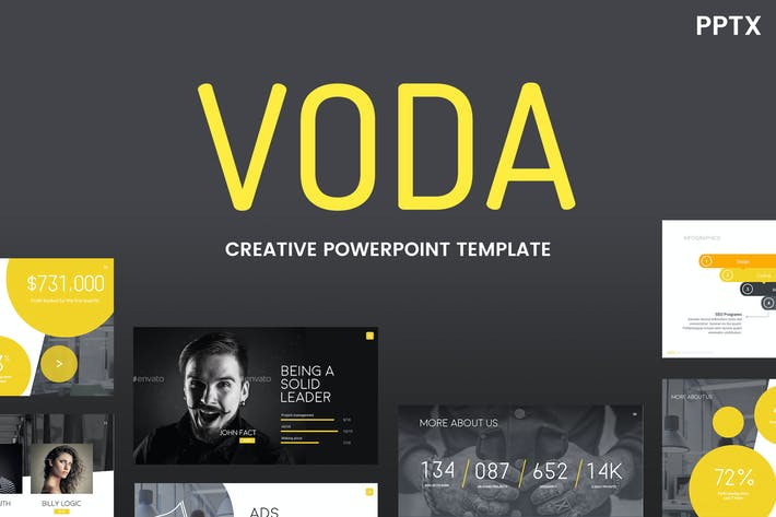 Thumbnail for Voda - Creative Powerpoint Template