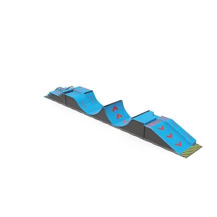 SkateBoard Rampen Blau