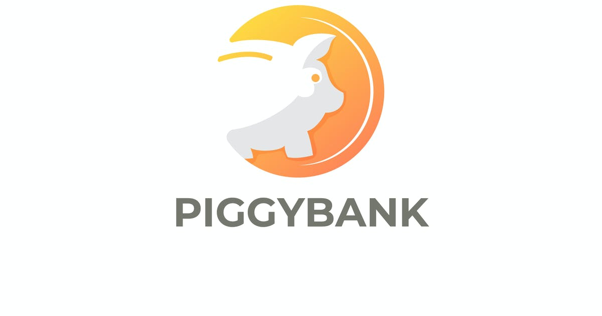Download Piggybank and Coin Negative Space Logo by Suhandi
