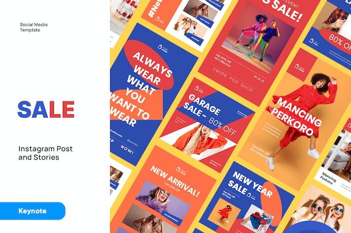 SALE - Instagram Post and Stories Keynote