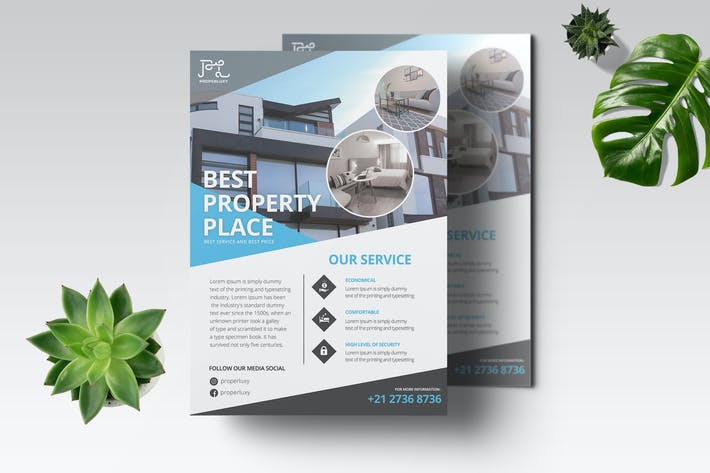 Cover Image For Property Flyer Template