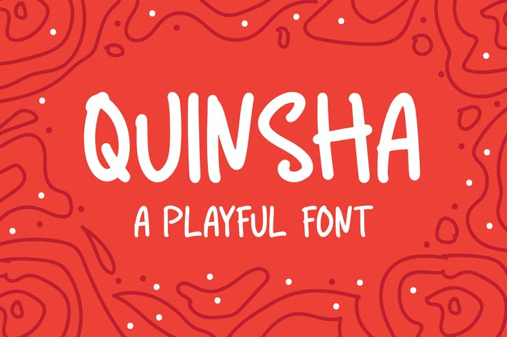 Thumbnail for Quinsha - A Playful Font