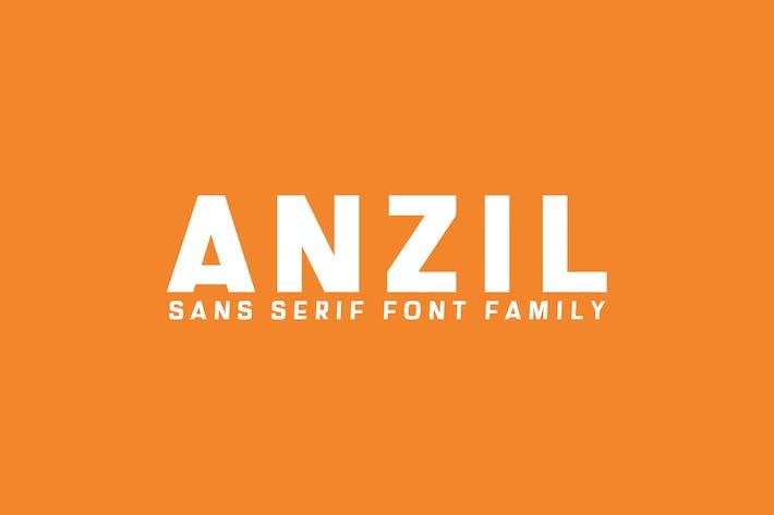 Thumbnail for Anzil Sans Serif Font Family