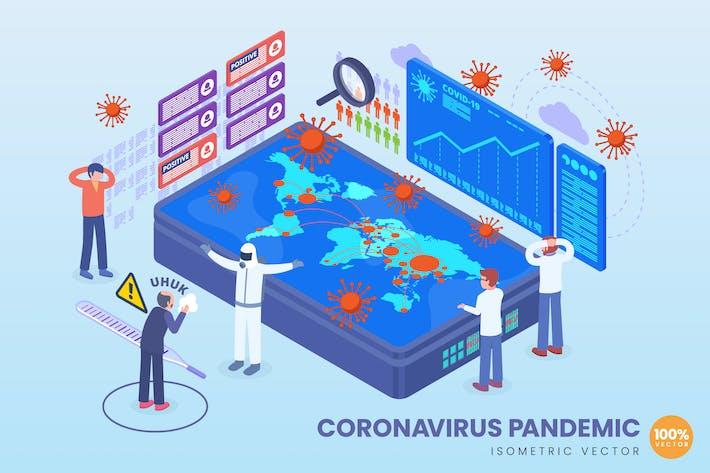Thumbnail for Isometric Coronavirus Pandemic Vector Concept
