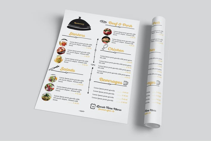 Thumbnail for Restaurant Food Menu Flyer
