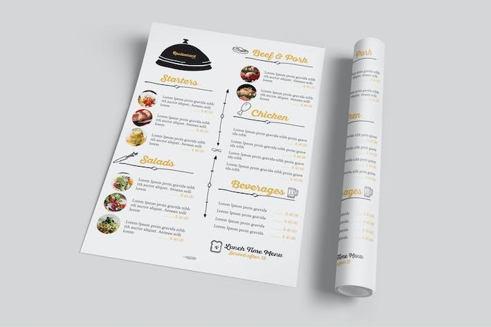 Thumbnail for Restaurant Food Menu Flyer