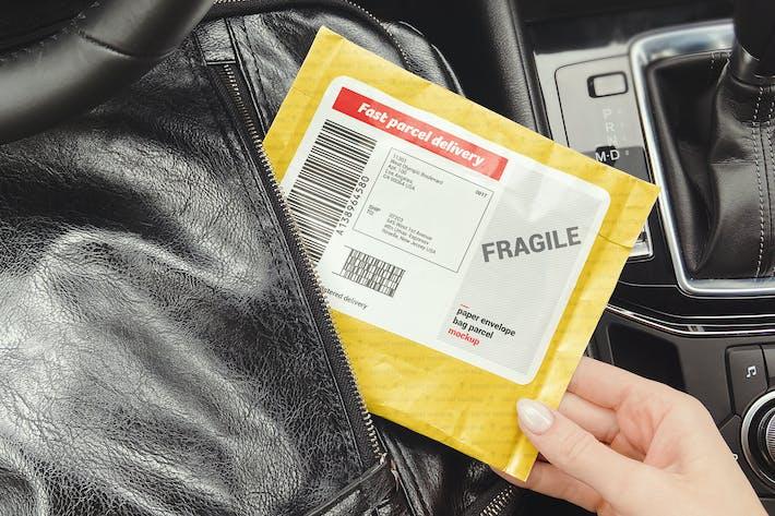 Thumbnail for Paper Envelope Bag Parcel Mockup