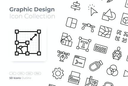 Icône Plan de conception graphique