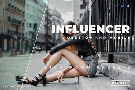 Influencer Desktop and Mobile Lightroom Preset
