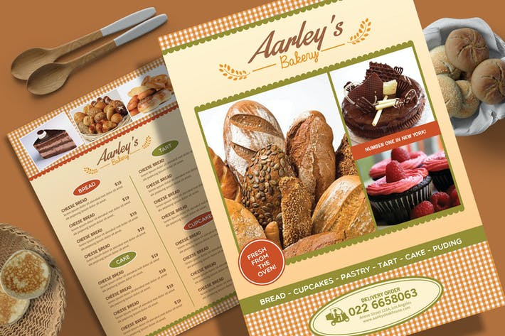 Thumbnail for Bakery Menu Flyer