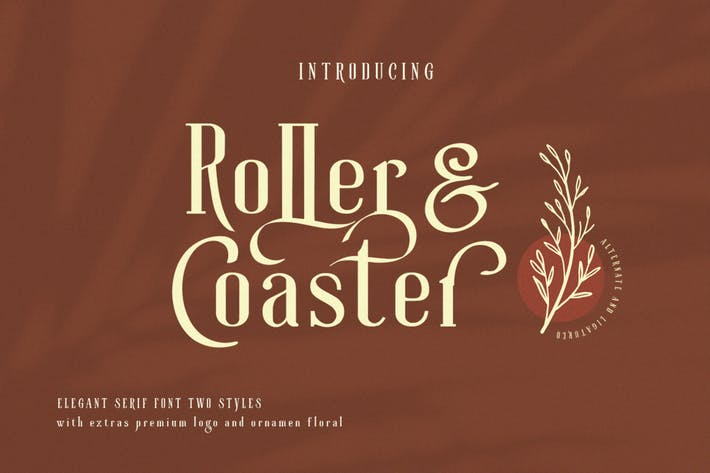Thumbnail for Roller Coaster Typeface