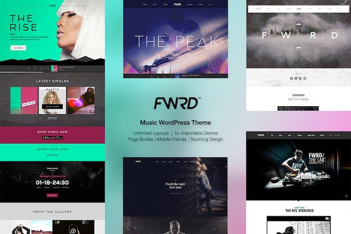 FWRD - Music Band & Musician WordPress Theme by IronTemplates on ...
