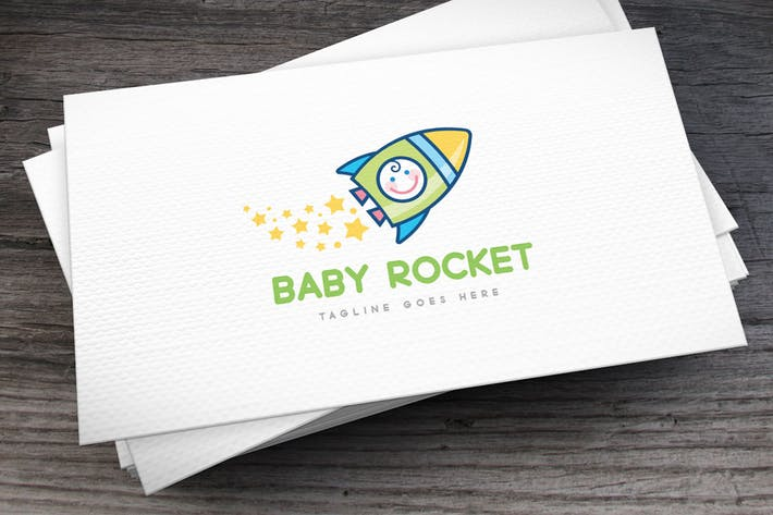 Thumbnail for Baby Rocket Logo Template