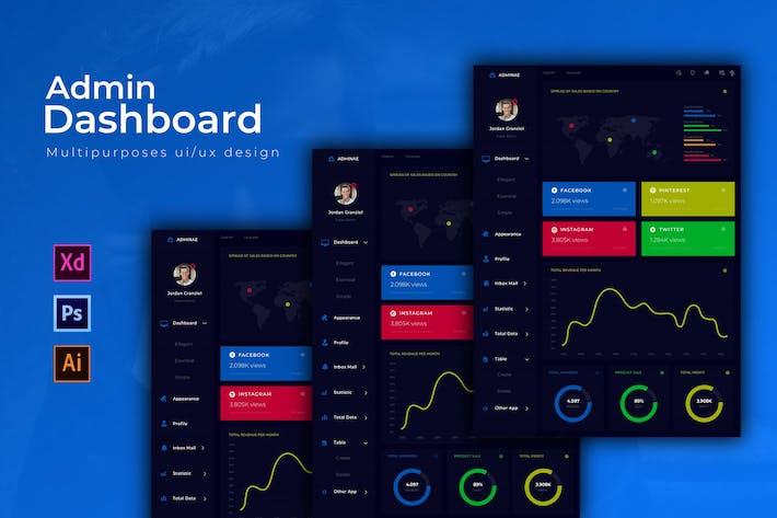 Thumbnail for Adminae Dashboard | Admin Template
