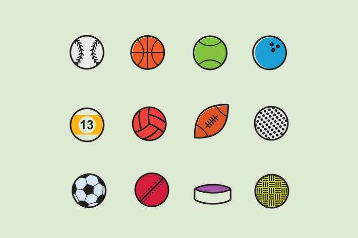 Thumbnail for 12 Sport Ball Icons