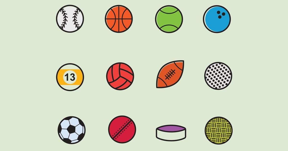 Download 12 Sport Ball Icons by creativevip
