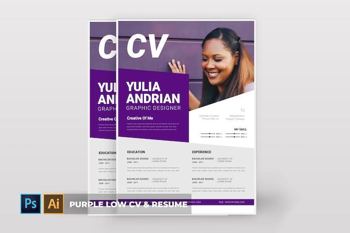 Thumbnail for Purple New | CV & Resume