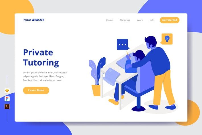 Thumbnail for Private Tutoring - Landing Page