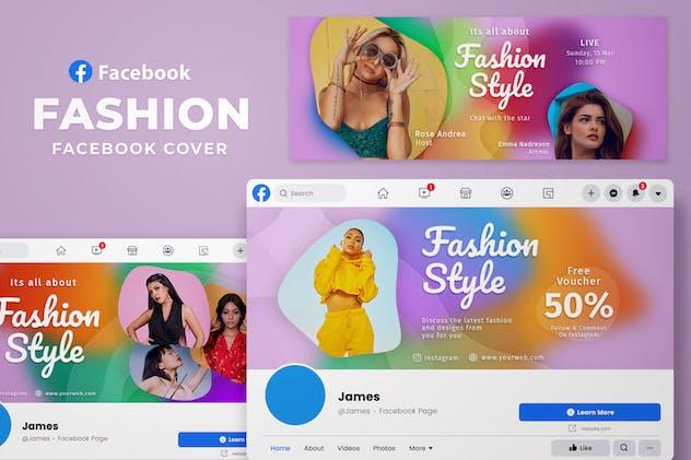 Facebook Cover Gradient Blur -  Fashion Fans Page