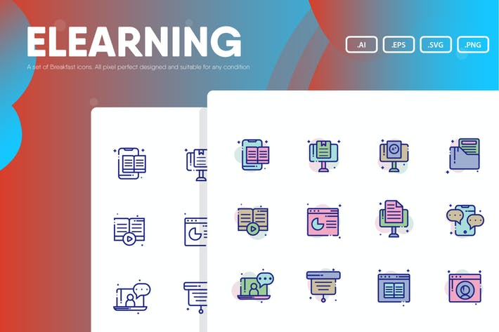 Thumbnail for Электронное обучение - Icon Pack
