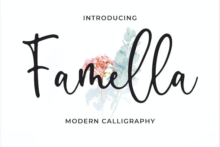Thumbnail for Famella - Modern Calligraphy Font