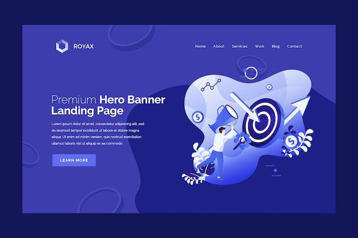 Thumbnail for Royax - Hero Banner Template