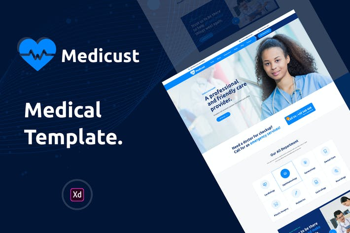 Medicust - Health and Medical XD Template