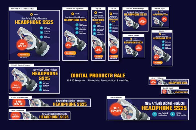 Digital Products Sale Banners Ad