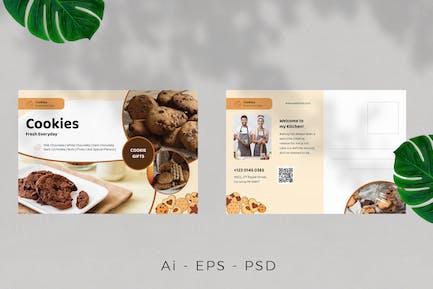 Cookies Postcard Design