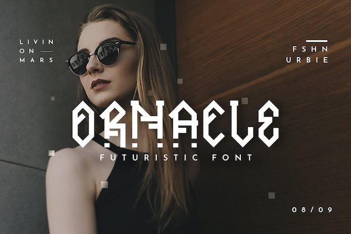 Thumbnail for Ornacle - Futuristic Font