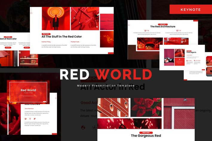 Thumbnail for Red World - Keynote Template