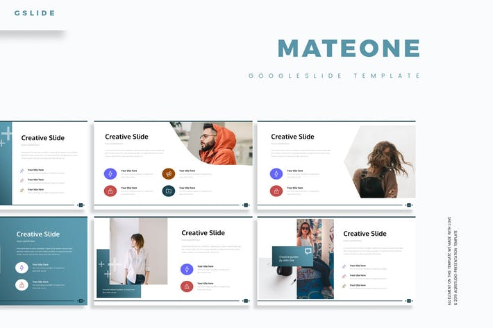 Cover Image For Mateone - Google Slide Template