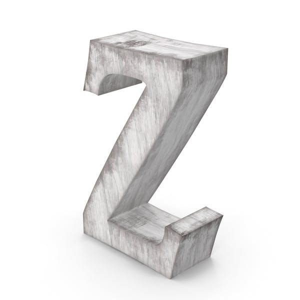 Wooden Decorative Letter Z