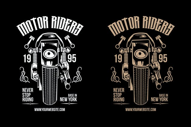 Motorcycle Riders T shirt Design Template