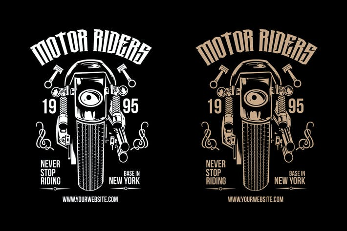 Thumbnail for Motorcycle Riders T shirt Design Template
