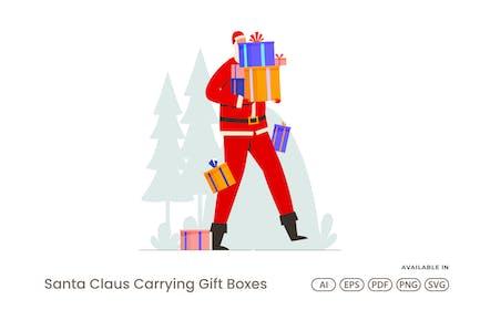 Weihnachtsmann Geschenkboxen