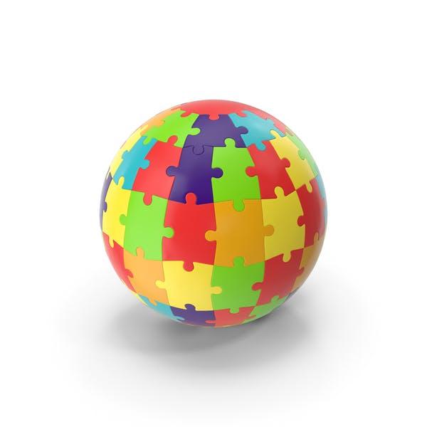 Цветные головоломки глобус