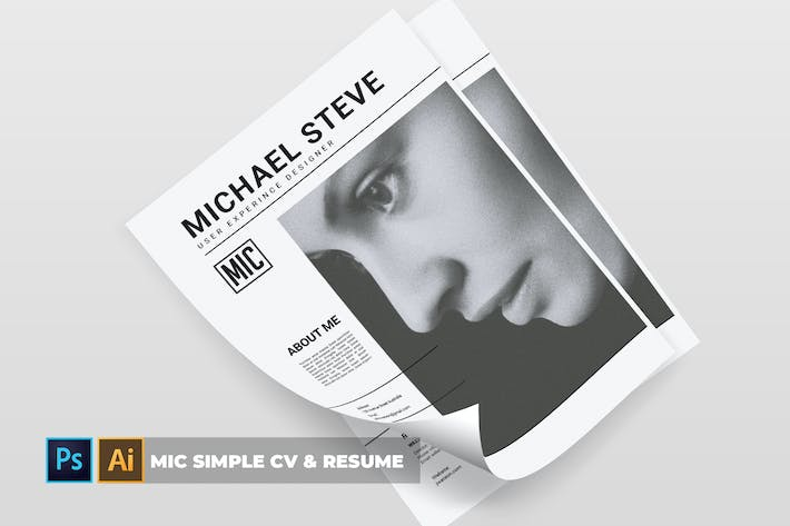 Cover Image For Mic Simple | CV & Resume