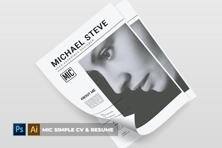 Thumbnail for Mic Simple | CV & Resume
