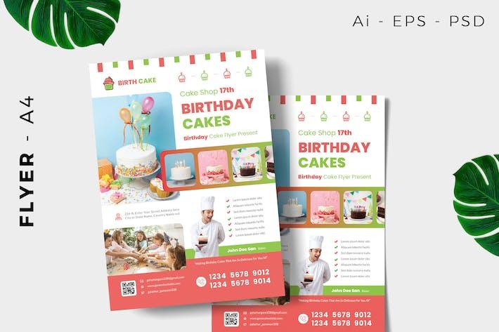 Thumbnail for Birthday Cake Flyer Design