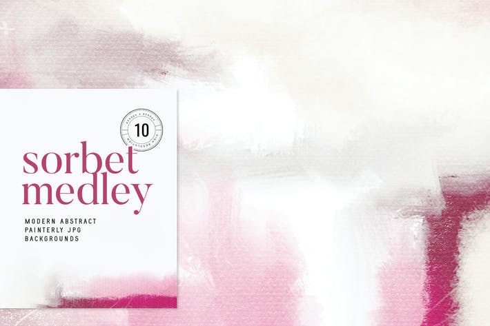 Thumbnail for Sorbet Medley Abstract Painterly JPG Backgrounds