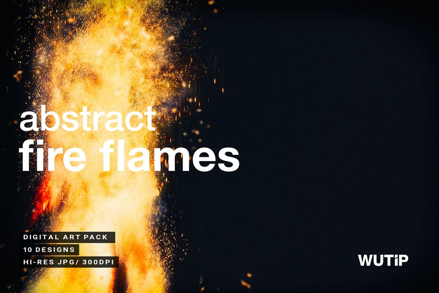 Abstract Fire Flames Backgrounds