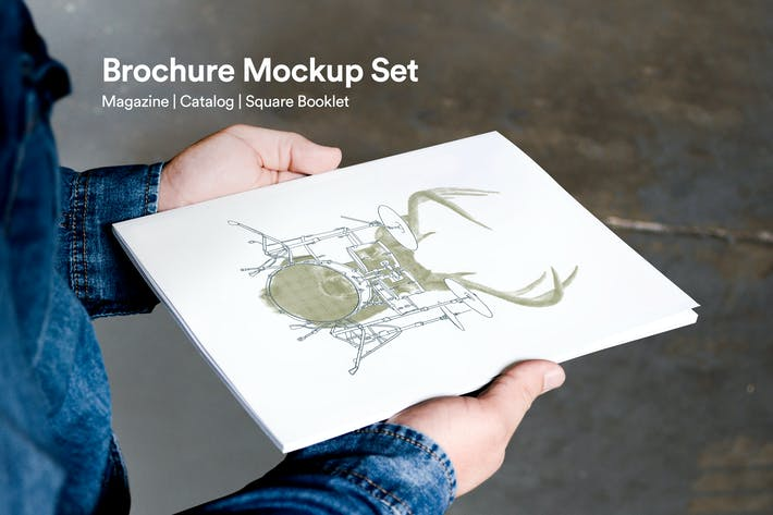 Thumbnail for Brochure Booklet Mockup Set - Magazine Catalog