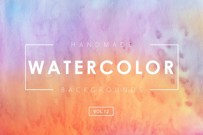 Cover Image For Handmade Watercolor Backgrounds Vol.12
