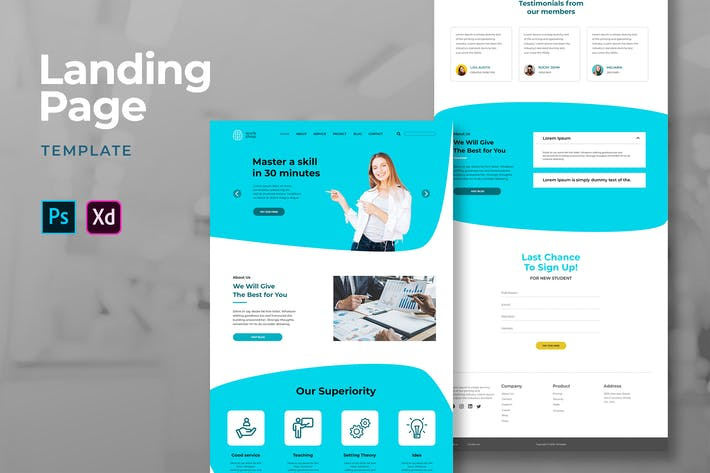 Thumbnail for Business Landing Pages