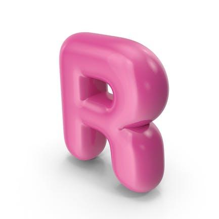 Toon-Ballonbuchstabe R