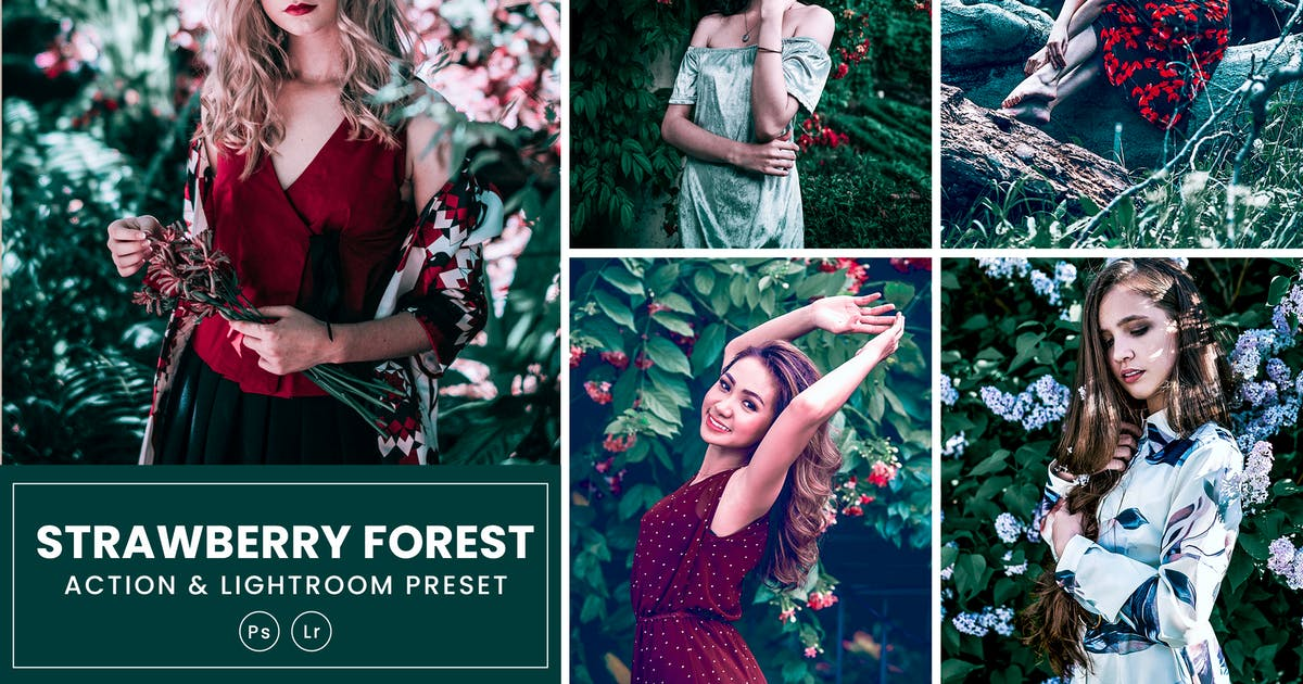 Download Strawberry Forest Photoshop Action & Lightrom by nmc2010