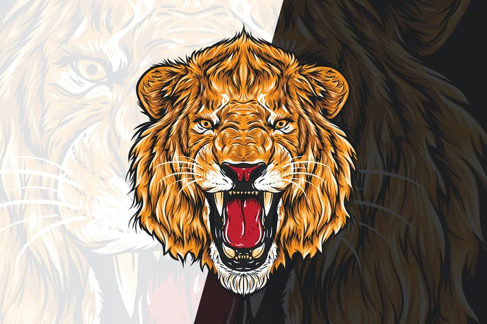 Thumbnail for Angry  Lion Head