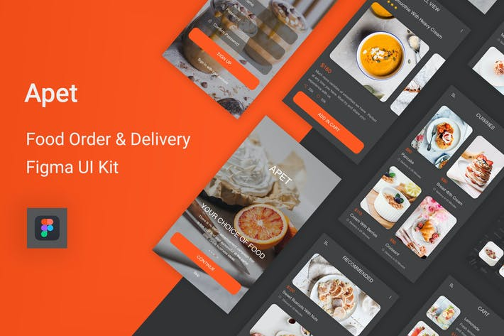 Thumbnail for Apet - Food Order & Delivery Figma UI Kit